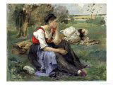 Resting Peasants  1877