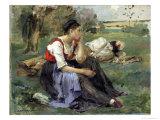 Resting Peasants  1877