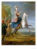Equestrian Portrait of Maria Leszczynska (1703-68)
