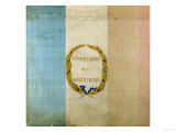 """Tricolore with the Motto """"Live Free or Die """" 1792 (Painted Fabric)"""