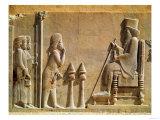 A Median Officer Paying Homage to King Darius I (circa 550-486 BC) from the Treasury  circa 515 BC