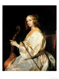 Young Woman Playing a Viola Da Gamba