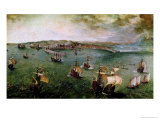 View of the Port of Naples  circa 1550-69