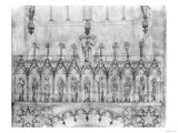 Design for the Gallery of Kings on the Facade of Strasbourg Cathedral  circa 1380