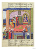 "Interior of the King of Persia's Palace  Illustration from the ""Shahnama"" (Book of Kings)"