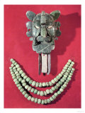 Zapotec Pectoral in the Form of a Mask Representing the Bat God  Piquete Zina  from Monte Alban