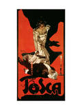 Poster Advertising a Performance of Tosca  1899
