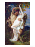 Nymph Abducted by a Faun  1860