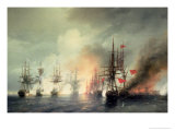 Russian-Turkish Sea Battle of Sinop on 18th November 1853  1853