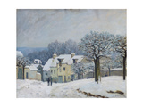 The Place Du Chenil at Marly-Le-Roi  Snow  1876