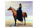 Equestrian Portrait of Mademoiselle Croizette  1873
