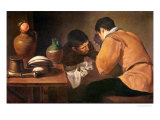 Two Men at Table  circa 1620-21