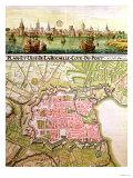 Plan of the Town of La Rochelle  1736