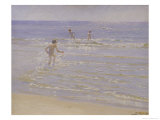 Sunshine at Skagen: Boys Swimming  1892 (Study)
