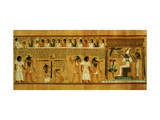 The Weighing of the Heart Against Maat's Feather of Truth  New Kingdom  circa 1275 BC (Papyrus)