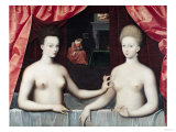 Gabrielle D&#39;Estrees (1573-99) and Her Sister  the Duchess of Villars  Late 16th Century
