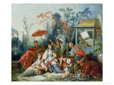 The Chinese Garden  circa 1742