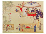 An Archery Contest  Late 18th Century  (Colour on Silk)