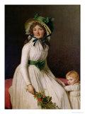 Madame Pierre Seriziat (Nee Emilie Pecoul) with Her Son  Emile (B1793) 1795