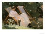 The Artist's Wife Sitting in a Garden Chair at Skagen  1893