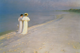 Summer Evening on the Skagen Southern Beach with Anna Ancher and Marie Kroyer  1893