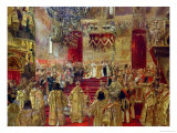 Study for the Coronation of Tsar Nicholas II (1868-1918) and Tsarina Alexandra (1872-1918)
