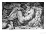 Leda  Engraved by Jacobus Bos  Boss or Bossius (Born circa 1520)