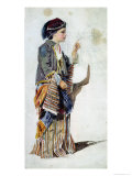 Figure of a Girl in Turkish Costume