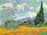 Wheatfield with Cypresses  1889 (Oil on Canvas)