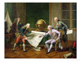 Louis XVI (1754-93) Giving Instructions to La Perouse  29th June 1785  1817