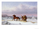 Crossing the St Lawrence from Levis to Quebec on a Sleigh