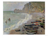 Etretat  Beach and the Porte D&#39;Amont  1883