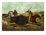 Life on the Prairie  the Buffalo Hunt  1862