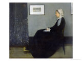 Arrangement in Grey and Black No1: Portrait of the Artist&#39;s Mother  c1871