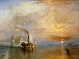 "The ""Fighting Temeraire"" Tugged to Her Last Berth to be Broken Up  Before 1839"