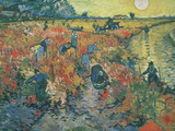 Red Vineyards at Arles  1888 (Oil on Canvas)