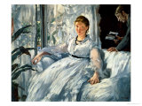 Reading 1865 art print by Edouard Manet