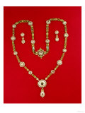 Necklace by Tiffany and Co New York  1870 (Diamonds and Enamelled Gilt)