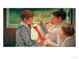 Mrs Cassatt Reading to Her Grandchildren  1888
