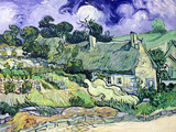Thatched Cottages at Cordeville  Auvers-Sur-Oise  c1890