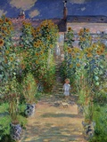 The Artist&#39;s Garden at Vetheuil  1880