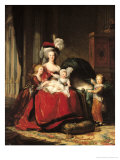 Marie-Antoinette (1755-93) and Her Four Children  1787