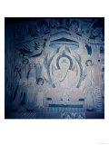 Shakyamuni Buddha  Surrounded by Bodhisattvas and Aspareses  Nanbeichao II Period  501-580 AD