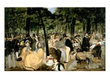 Music in the Tuileries Gardens  1862 (Oil on Canvas)