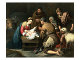 The Adoration of the Shepherds  C1650 (Oil on Canvas)