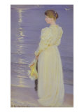 Woman in White on a Beach  1893