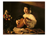 The Lute Player  C1595 (Oil on Canvas)