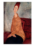 Jeanne Hebuterne in a Yellow Jumper  1918-19