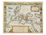 A Map of the New Roman Empire  circa 1610 by John Speed (1552-1629)