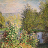 A Corner of the Garden at Montgeron, 1876-7 Giclée par Claude Monet
